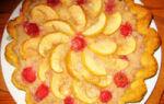 Клубнично яблочный пирог