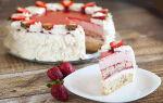 Торт с клубничным муссом из маскарпоне