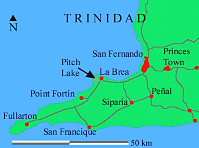Озеро Пич-Лейк на карте